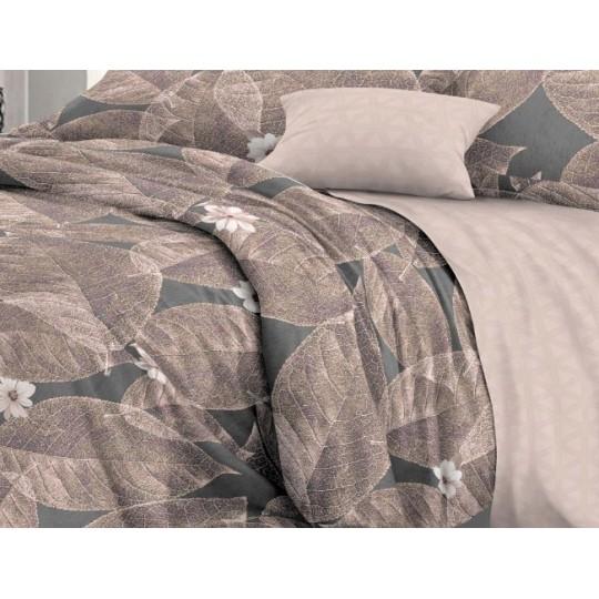 КПБ De Luxe сатин 1.5 спальный,  рис. Лавр