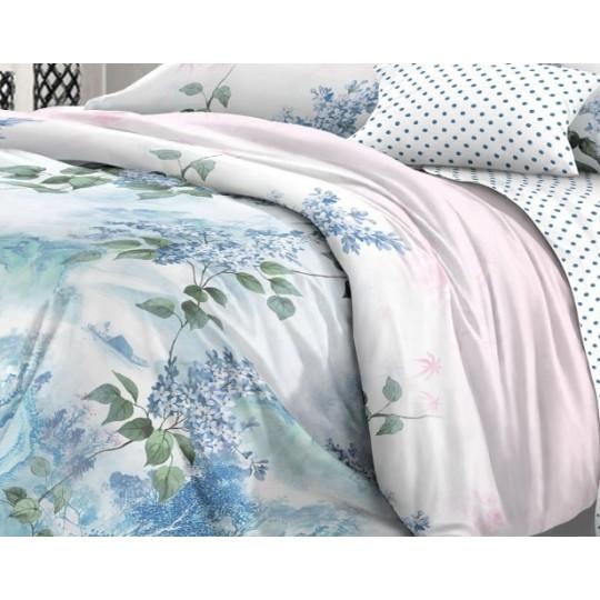 КПБ De Luxe сатин 1.5 спальный,  рис. Мечтательница