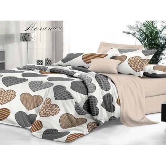КПБ De Luxe сатин 1.5 спальный,  рис. Мелания