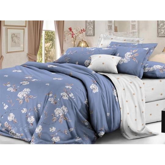 КПБ De Luxe сатин 2 спальный Макси (молния),  рис. Мирослава