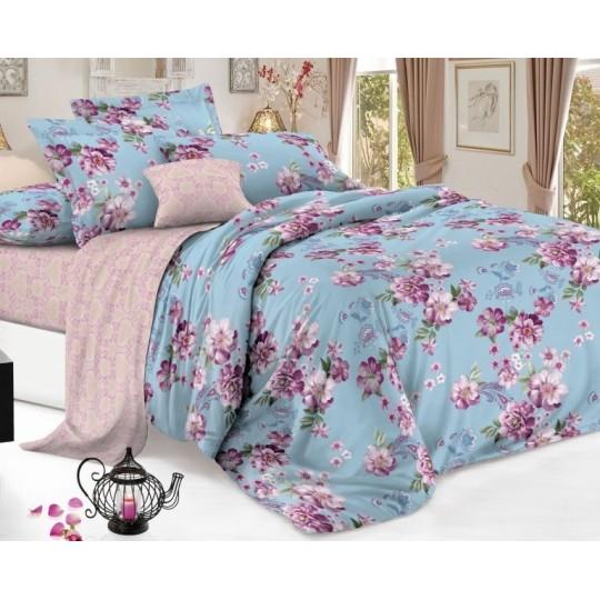 КПБ De Luxe сатин 1.5 спальный,  рис. Неженка