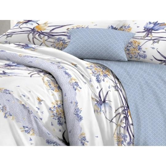 КПБ De Luxe сатин 1.5 спальный,  рис. Олеся
