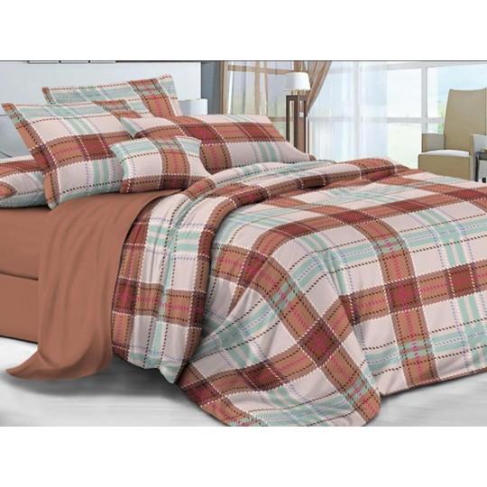 КПБ De Luxe сатин 1.5 спальный,  рис. Омбре