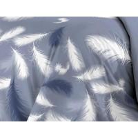 КПБ De Luxe сатин 1.5 спальный,  рис. Плюмаж