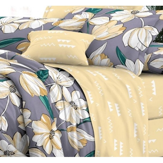 КПБ De Luxe сатин 1.5 спальный,  рис. Поклонник