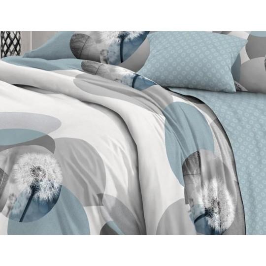 КПБ De Luxe сатин 1.5 спальный,  рис. Ремарка