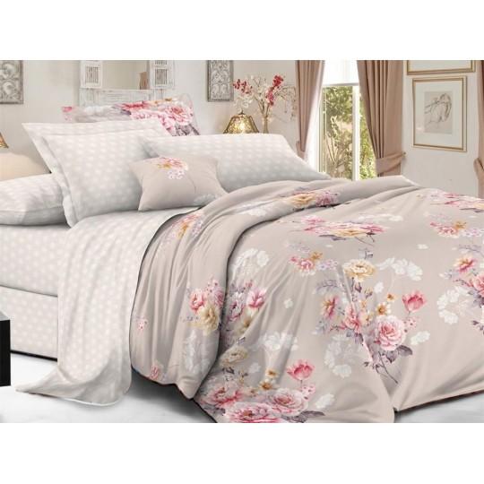 КПБ De Luxe сатин 1.5 спальный,  рис. Руж