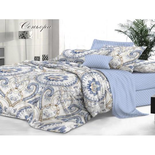 КПБ De Luxe сатин 1.5 спальный,  рис. Сеньора
