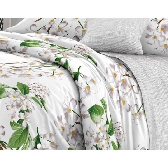 КПБ De Luxe сатин 1.5 спальный,  рис. Сиеста