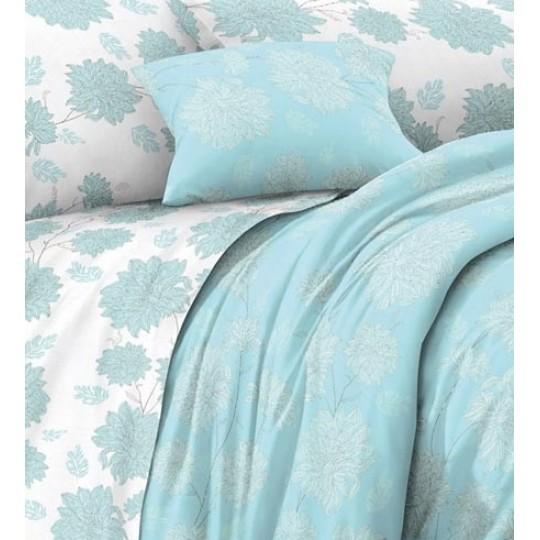 КПБ De Luxe сатин 1.5 спальный,  рис. Тефити