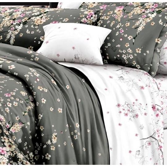 КПБ De Luxe сатин 1.5 спальный,  рис. Туманное утро