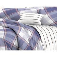 КПБ De Luxe сатин 2 спальный Макси,  рис. Уверенность
