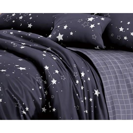 КПБ De Luxe сатин 1.5 спальный,  рис. Зодиак