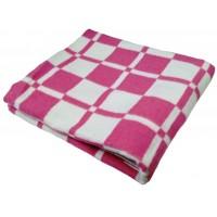 Одеяло 140х205 байковое, малиновое
