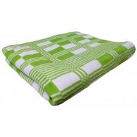 Одеяло 140х205 байковое, салатовое