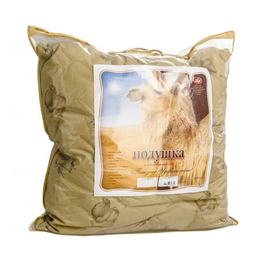 Подушка 70х70 см, верблюжья шерсть