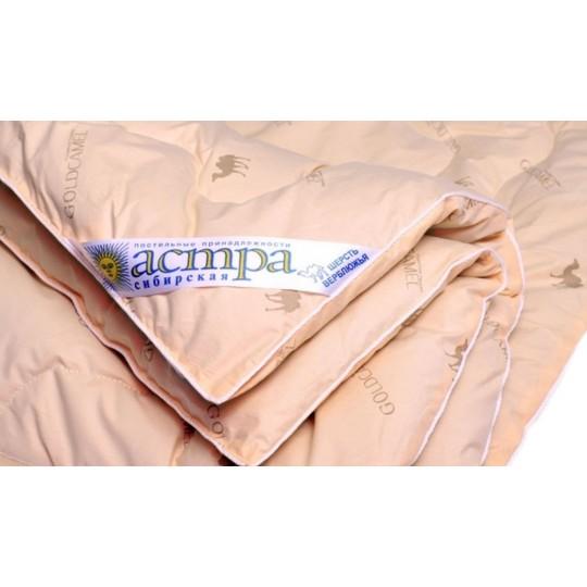 Одеяло 1,5 спальное, Верблюжья шерсть в тике