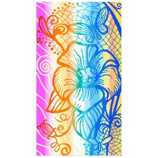 Полотенце махровое 30х60 Примавера-цветок