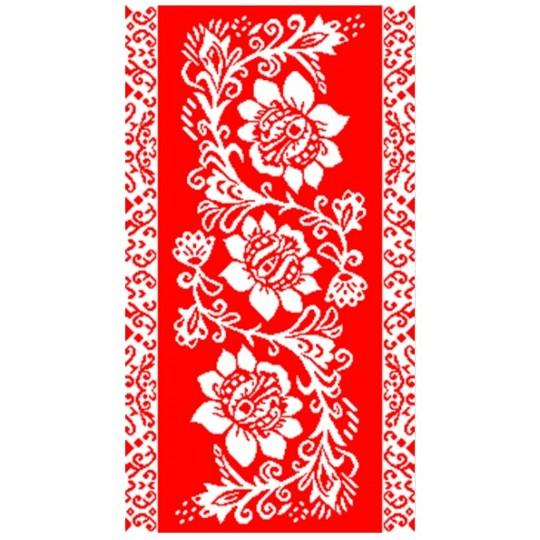 Полотенце махровое 30х60 Цветы