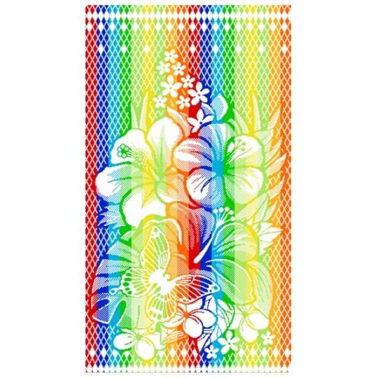Полотенце махровое 50х90 Цветы с бабочкой
