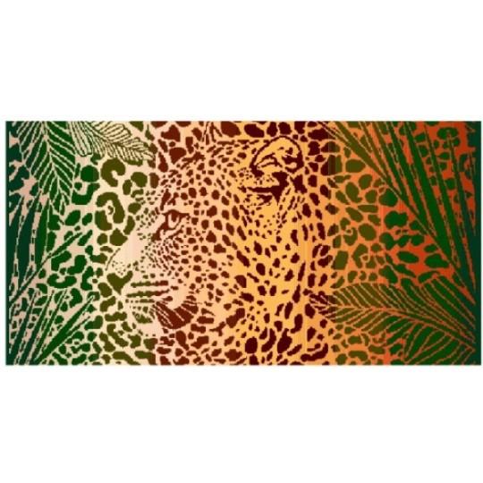 Полотенце махровое 40х70 Леопард в джунглях