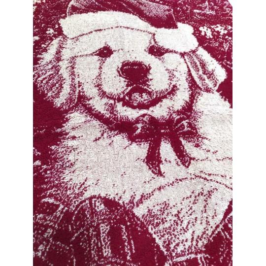 Полотенце махровое 50х90 Новогодний щенок
