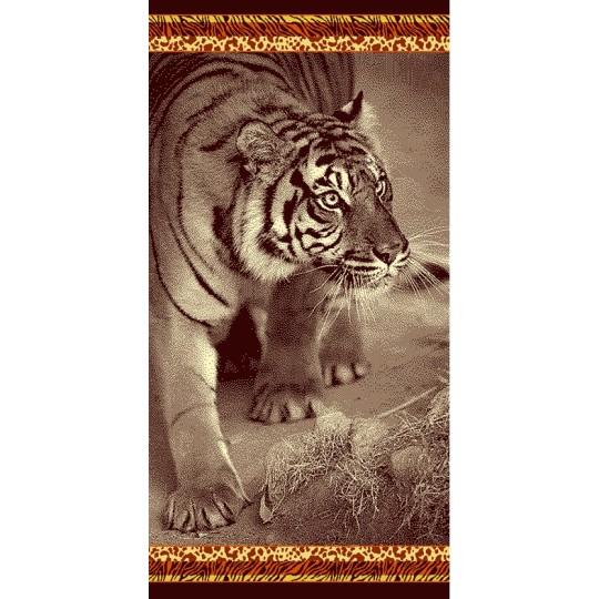 Полотенце махровое 70х140 Тигр