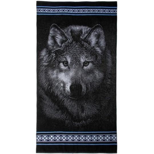 Полотенце махровое 70х140 Волк