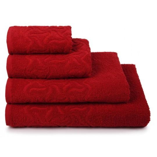 04352 Полотенце махровое 100х150 Радуга, красный