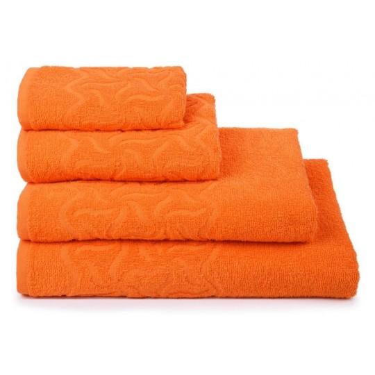 04352 Полотенце махровое 100х150 Радуга, оранжевое