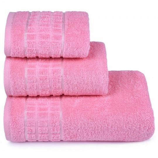3874 Полотенце махровое 40х60 Megapolis, розовый
