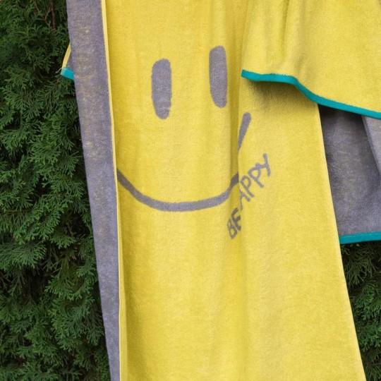 4553 Полотенце махровое 70х130 Be happy