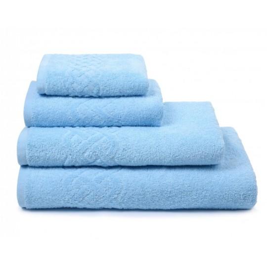01933 Полотенце махровое 50х90 Plait, голубой