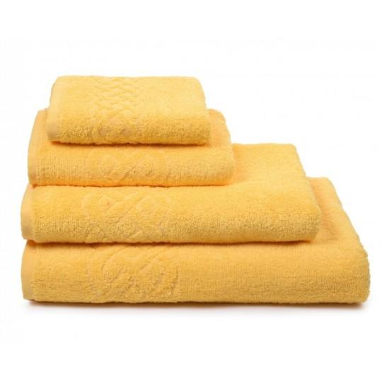 01933 Полотенце махровое 50х90 Plait, желтый