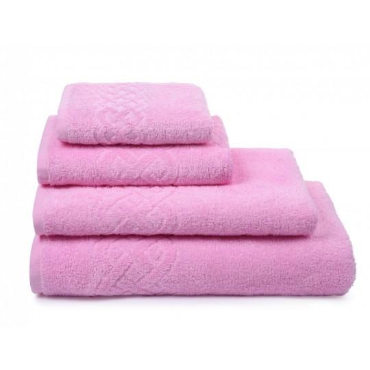 01933 Полотенце махровое 50х90 Plait, розовый