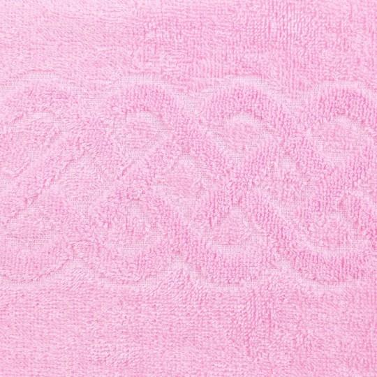 01933 Полотенце махровое 100х150 Plait, розовый