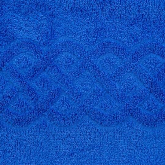 01933 Полотенце махровое 100х150 Plait, синий