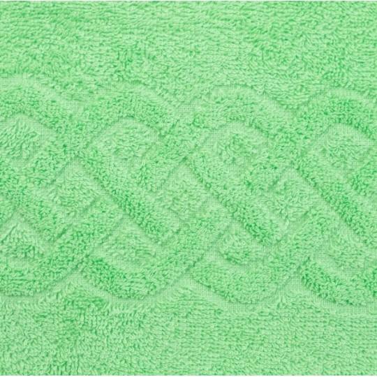 01933 Простыня махровая Plait 200х220 см, зеленая
