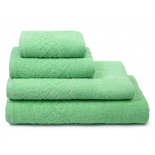 01933 Полотенце махровое 100х150 Plait, зеленый