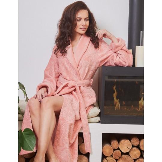 Халат женский бамбуковый Belinda (персик)