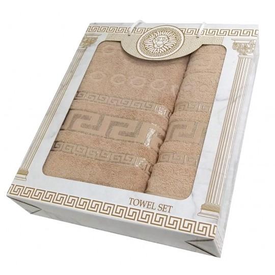 Набор махровых полотенец Дамир, бежевый