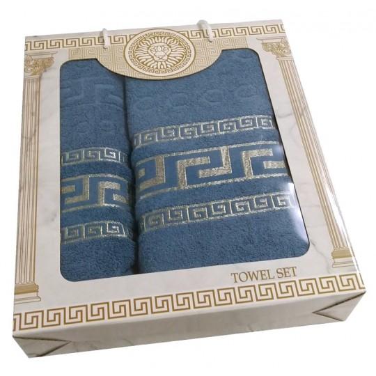 Набор махровых полотенец Дамир, деним