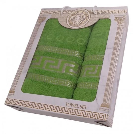 Набор махровых полотенец Дамир, зеленый