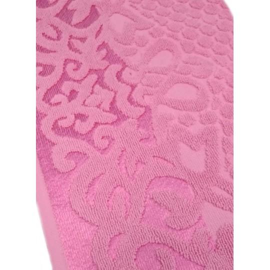 Полотенце 50х90 махровое Аврора, розовый