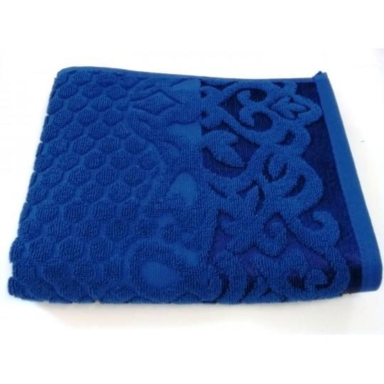 Полотенце 50х90 махровое Аврора, синий