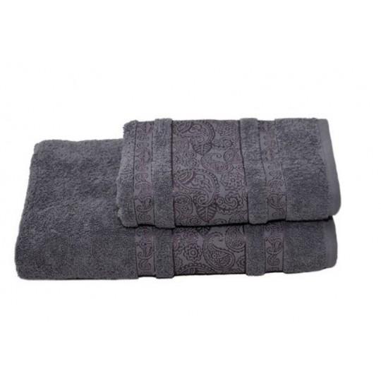 Полотенце 50х90 махровое Бодрум, серый