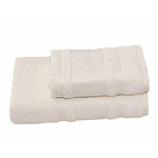 Полотенце 50х90 махровое Бодрум, белый крем