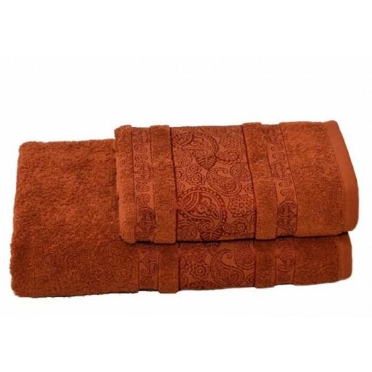 Полотенце 50х90 махровое Бодрум, коричневый