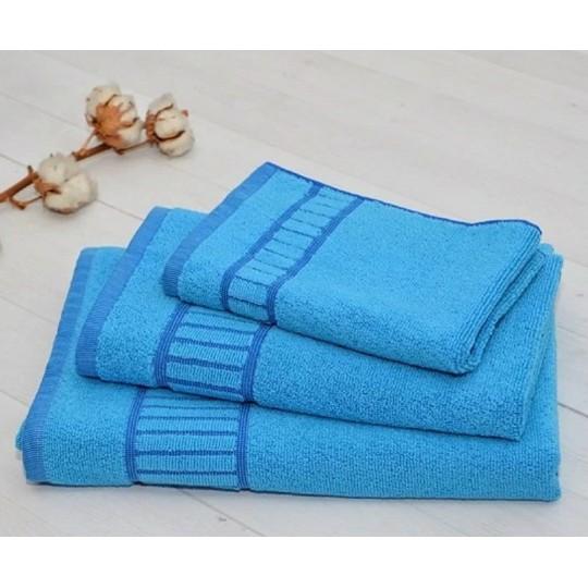 Полотенце 50х90 махровое Букле, голубой