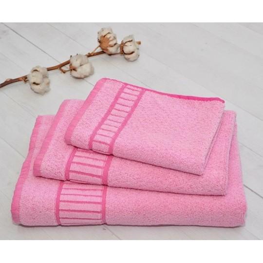 Полотенце 50х90 махровое Букле, розовый